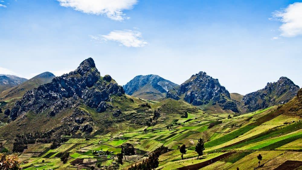 paisagem da cordilheira dos Andes