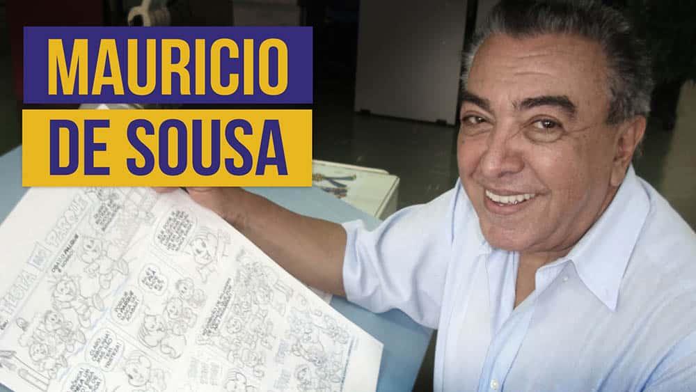 O cartunista Mauricio de Sousa.