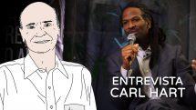 Thumbnail com ilustração do dr. Drauzio e ao fundo o neurocientista Carl Hart durante entrevista.