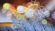 frascos de laboratório em fundo futurista. veja ganhadores do Ignobil 2015