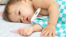 crianca bebe termometro febre