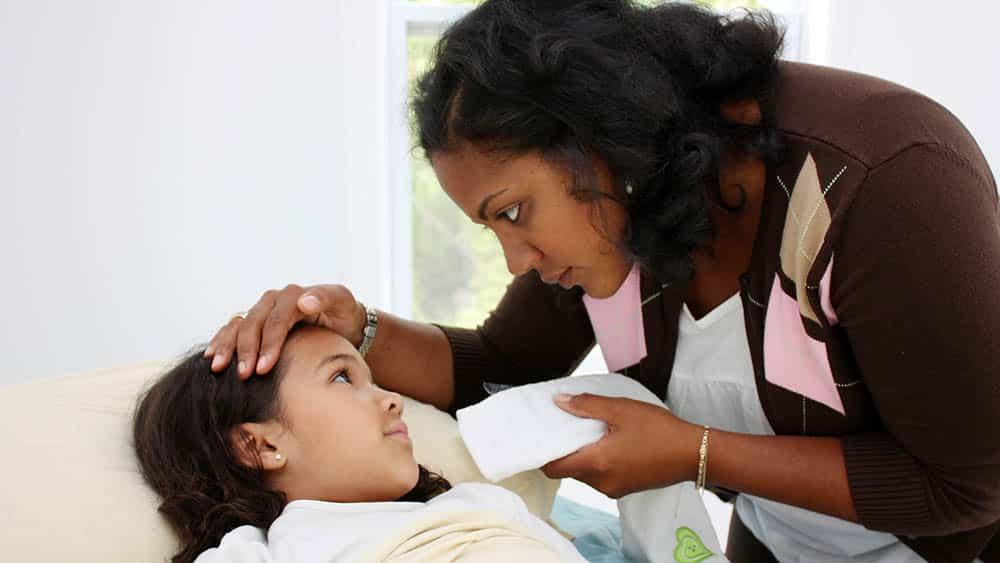 crianca gripe febre