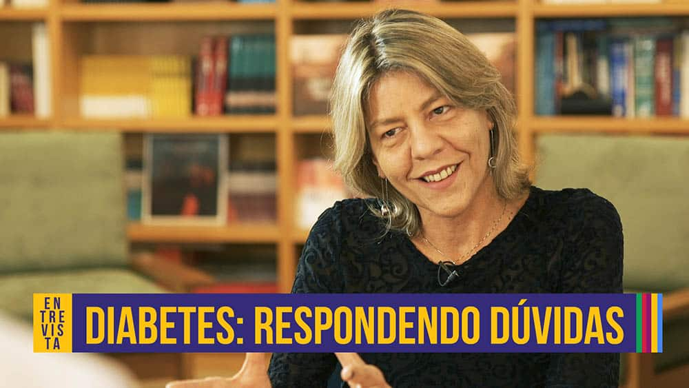 Thumb com a entrevistada, Karla Melo, que fala sobre diabetes.