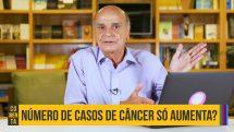 Thumbnail com dr. Drauzio e texto sobre aumento do número de casos de câncer.