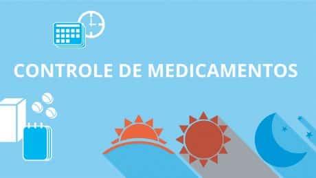 Miniatura de material que ajuda a organizar a tomada de medicamentos com texto