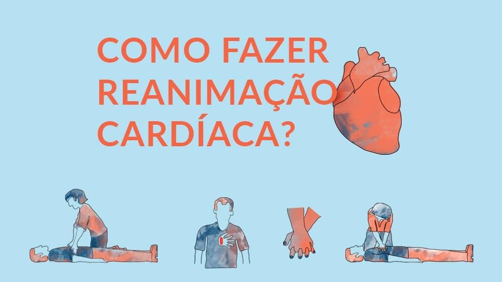 Thumbnail do infográfico que explica o passo a passo de como fazer reanimação cardíaca.