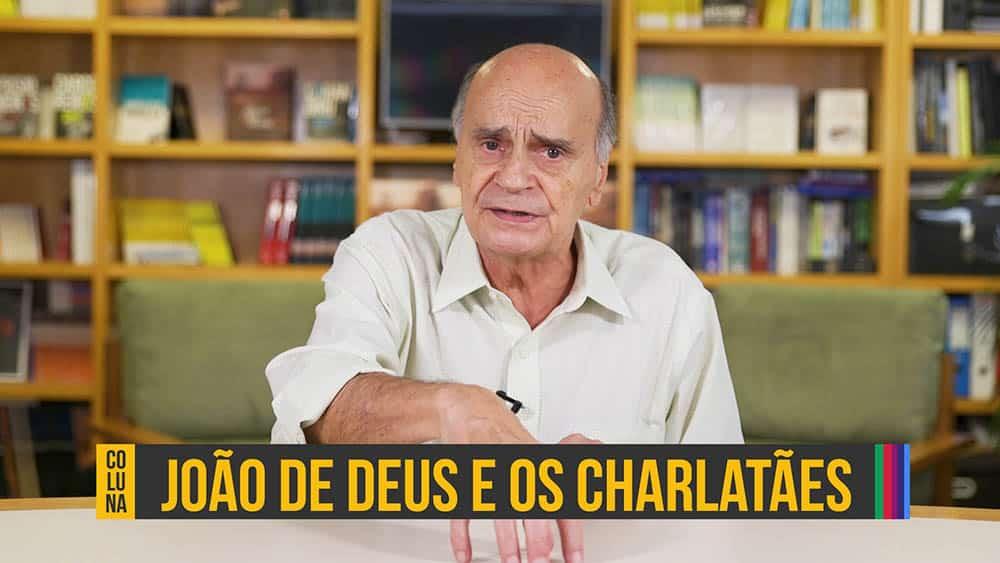 """Thumbnail com dr. Drauzio e o texto """"João de Deus e os charlatães""""."""