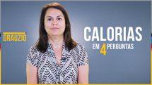 """Nutricionista Lilian Cardia e, ao lado, o texto """"calorias em 4 perguntas""""."""