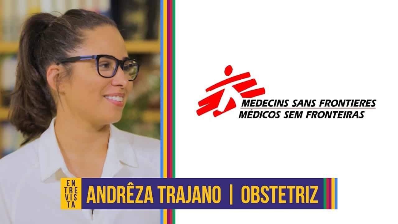 Obstetriz Andrêza Trajano, do Médicos Sem Fronteiras.