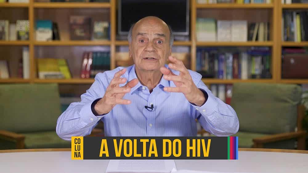 """Dr. Drauzio Varella e abaixo o texto """"a volta do hiv""""."""