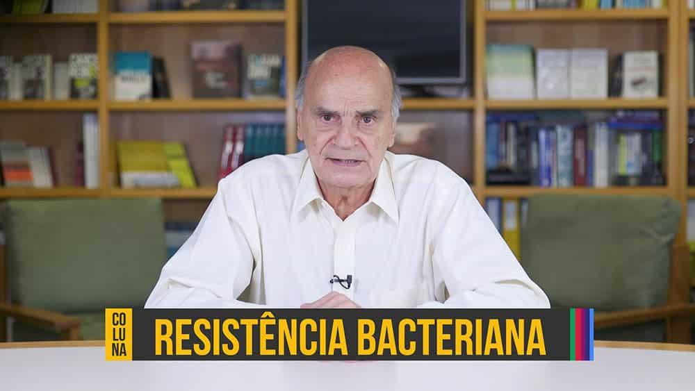 "Dr. Drauzio Varella e texto ""resistência bacteriana""."