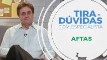 """Dentista Celso Augusto Lemos Jr. e texto """"tira-dúvidas com especialista sobre aftas""""."""