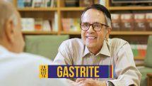 """O gastroenterologista Joaquim Prado e abaixo o texto """"gastrite""""."""