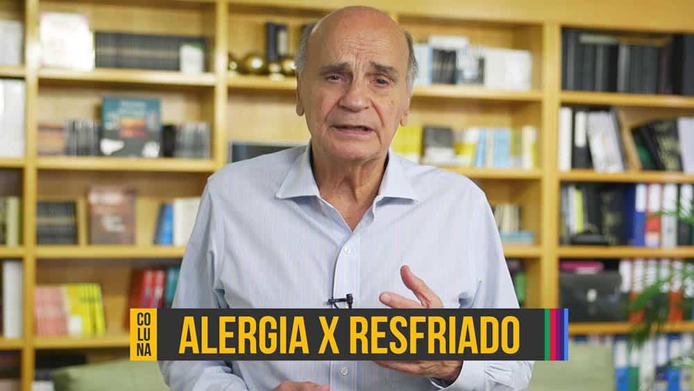 """Dr. Drauzio e, abaixo, o texto """"alergia x resfriado""""."""