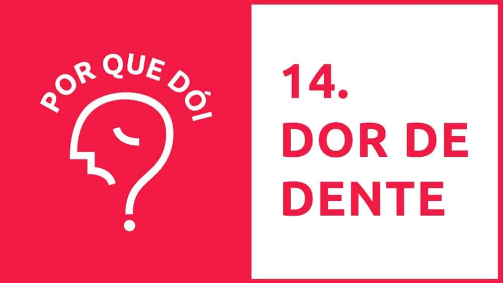 Thumbnail do podcast Por Que Dói? sobre dor de dente.
