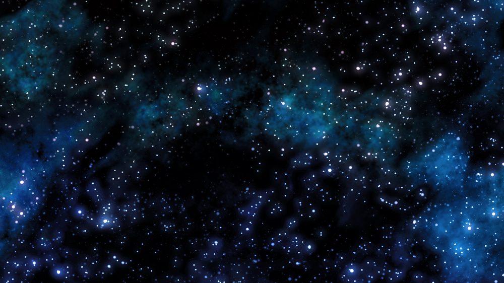 céu com estrelas e nebulosas. Evolução do homo sapiens é fruto de eventos aleatórios