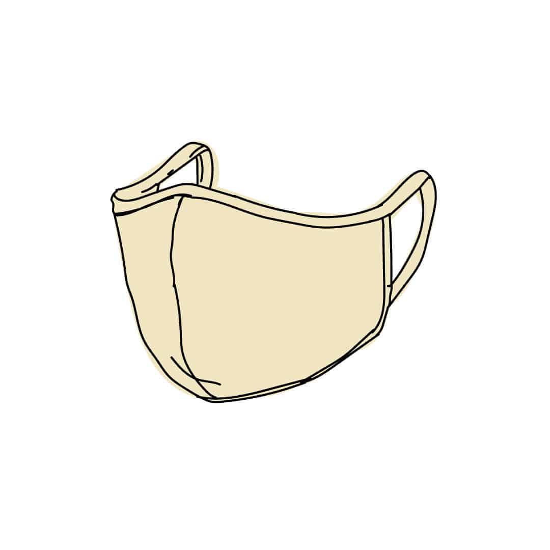 desenho de máscara de pano